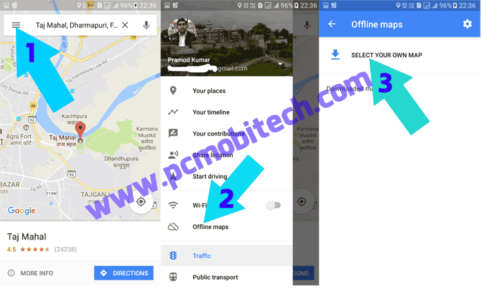 How To Use Google Maps Offline On Android Pcmobitech