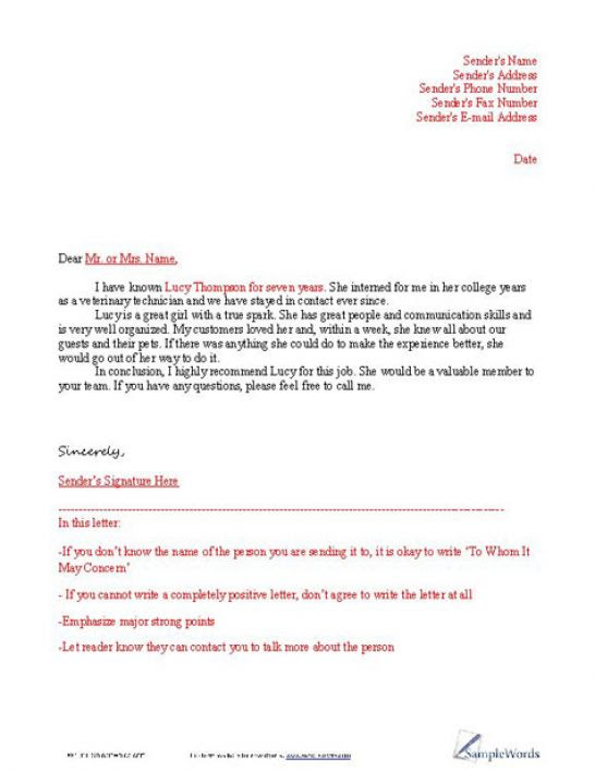Writing An Employees Reference Letters