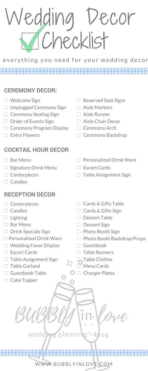 Wedding Decor Checklist ? Everything you Need to Plan your