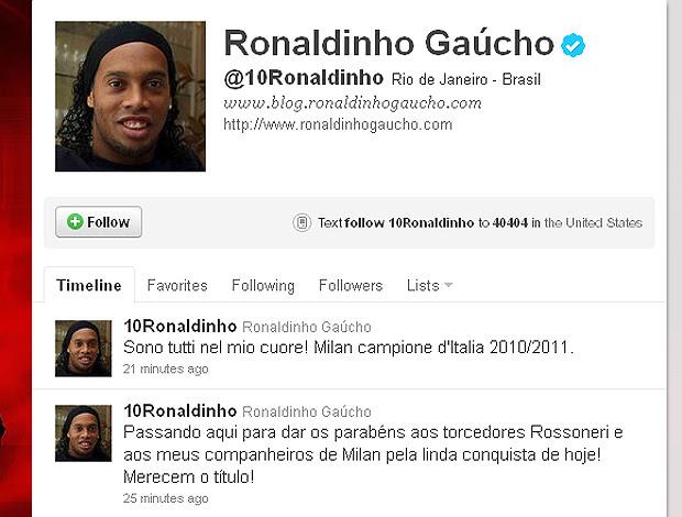 ronaldinho gaucho twitter (Foto: Reprodução/Twitter)