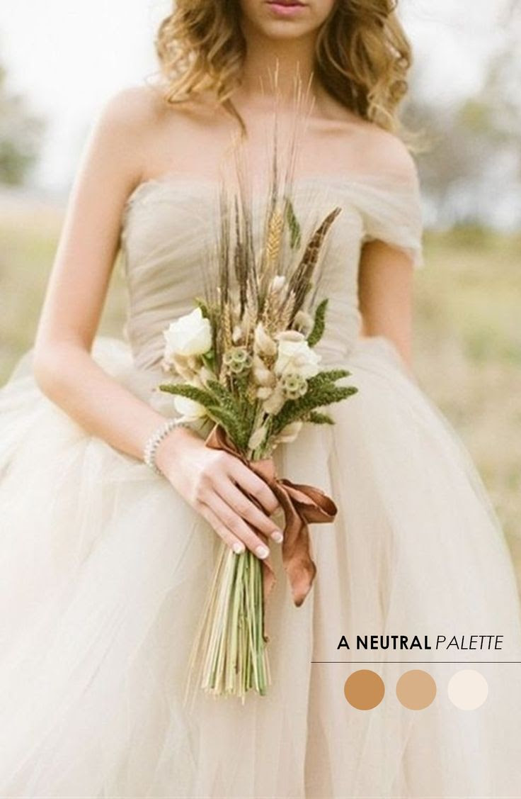 A neutral palette http://www.theperfectpalette.com/2013/11/10-wedding-color-palettes-you-need-to.html