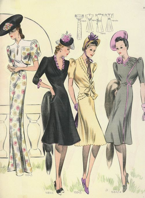Borrow A Page From The Style Book Of These Glamorous C Late 1930 Ladies And Wear Pink Very Sparingly Such As Piping Or Ruffles Their Frocks