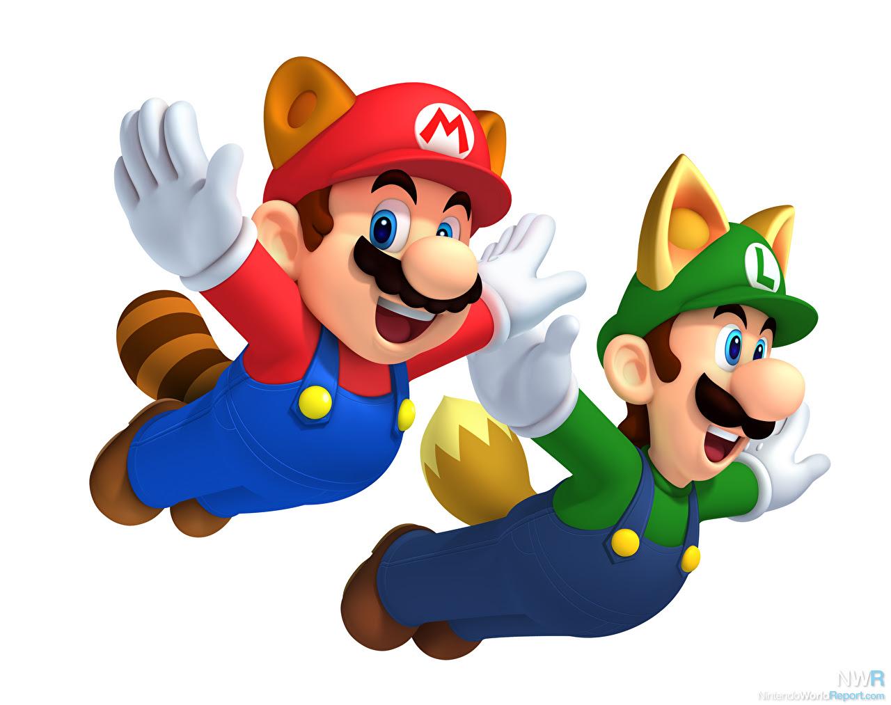 Mario Donning White Tanooki Suit in New Super Mario Bros 2