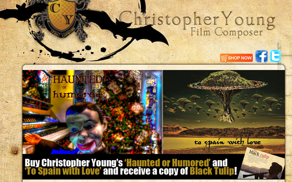 chris young music composer website layout
