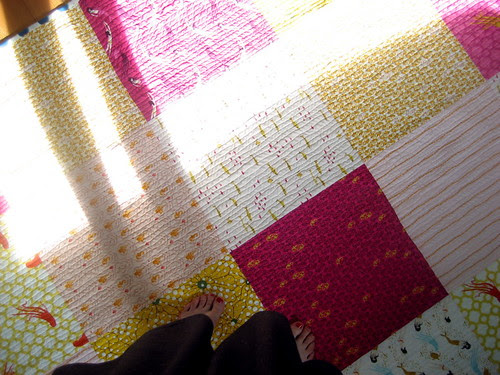 quilt back and feet