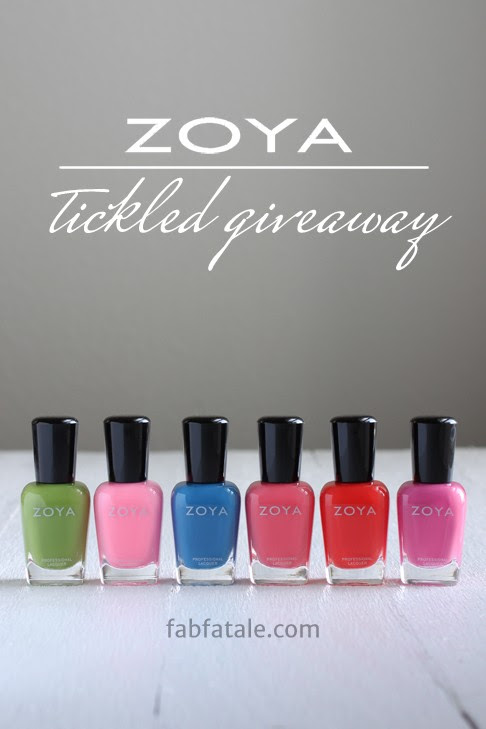 I just entered to win the entire Zoya Tickled collection at http://www.fabfatale.com/2014/05/manicure-mondays-zoya-tickled-giveaway/ #nailpolish #giveaway #zoya