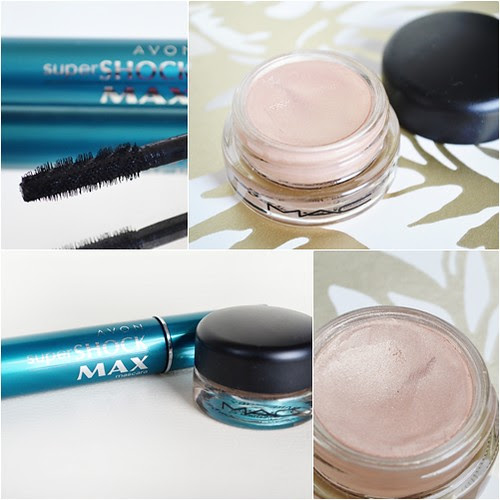 MAC bare study paintpot Avon super shock max mascara