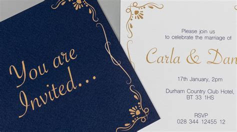 Flat Wedding Invitation Printing   Print Wedding Cards UK