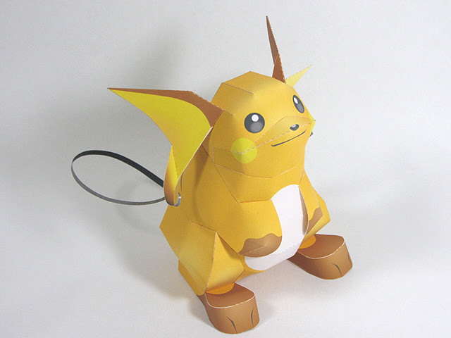 Pokemon Raichu Paper Model