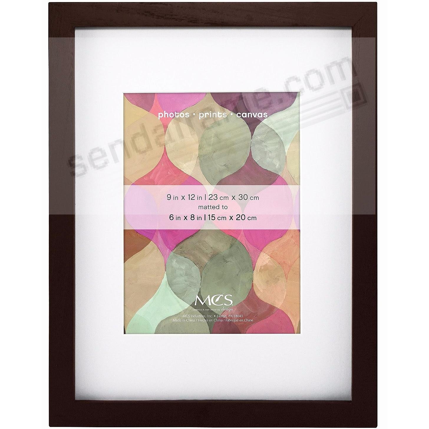Art Shadow Box ¾in Depth Walnut Wood 9x126x8 Frame By Mcs