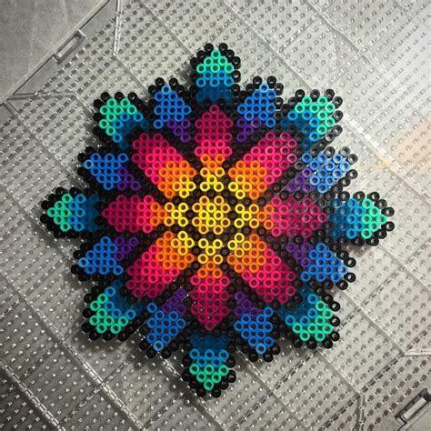 daisy perler beads  aeonmetrik iron  beads