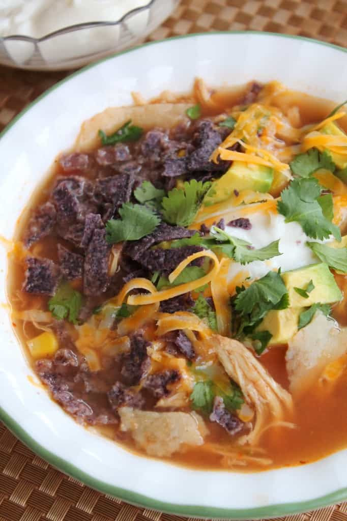 Slow Cooker Creamy Chicken Tortilla Soup 2
