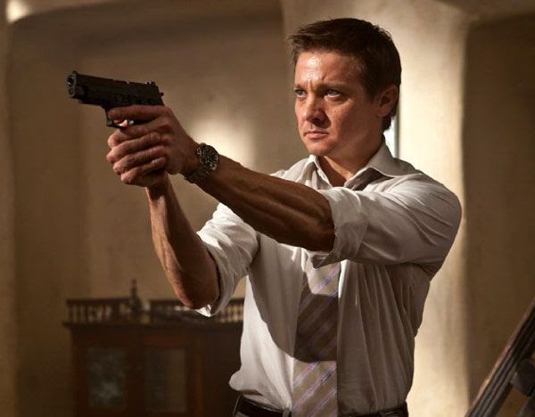 IMF agent William Brandt (Jeremy Renner) shows that he's more than just a chief analyst in MISSION: IMPOSSIBLE - GHOST PROTOCOL.
