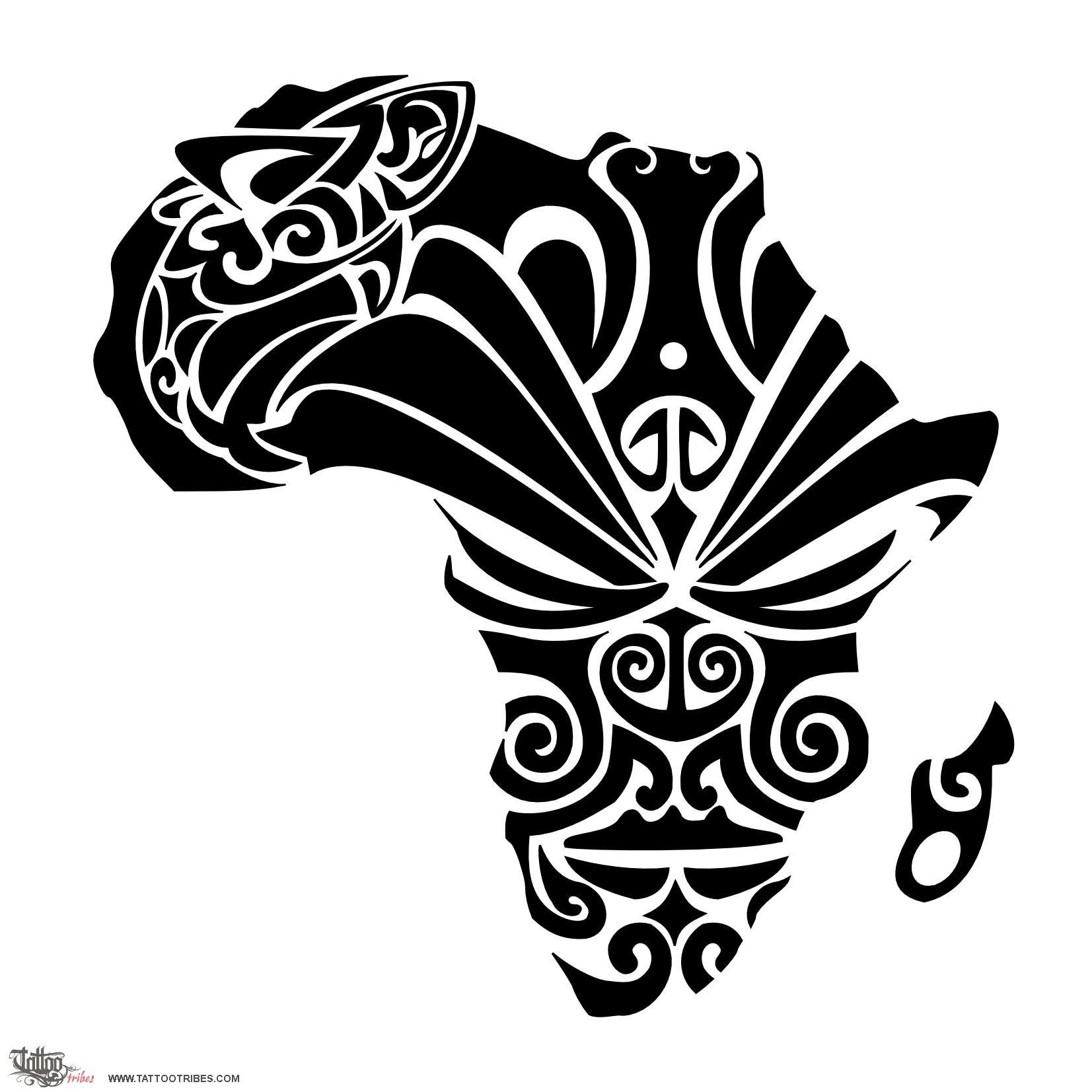 Black Maori African Tattoo Design