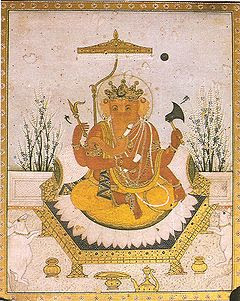 Ganesha Nurpur miniature circa 1810 Dubost p64.jpg