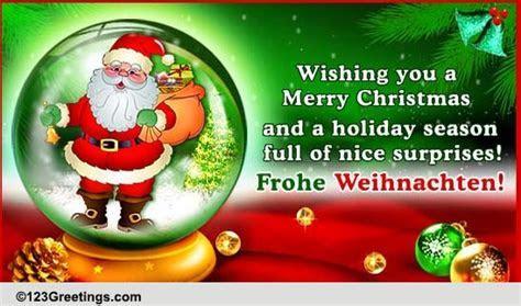Say 'Merry Christmas' In German! Free German eCards