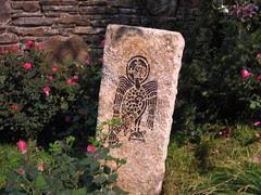 Stone with bird markings