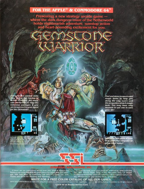 Gemstone Warrior Ad 00 1984