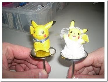 Personalized Cake Toppers to Top It All: Pikachu Wedding