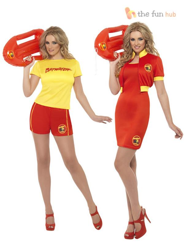 ladies baywatch costume  float beach lifeguard sexy