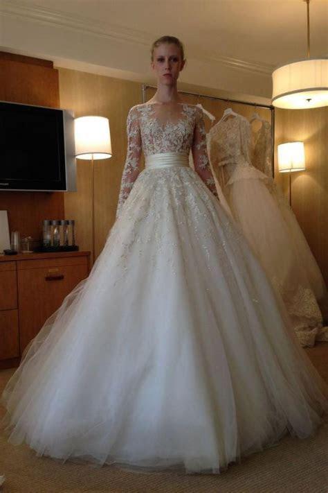 2015 New Arrival Long Sleeve Wedding Dresses Lace Applique
