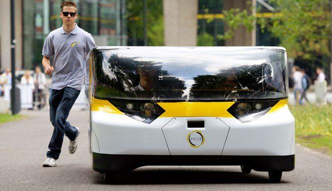 Perierga.gr - Ηλεκτρικό αυτοκίνητο που κινείται με ηλιακή ενέργεια