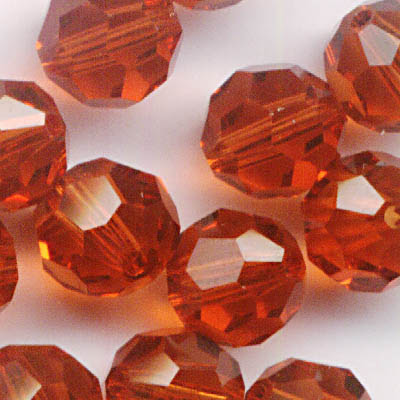 27750001743374 Swarovski Bead - 6 mm Faceted Round (5000) - Indian Red (1)