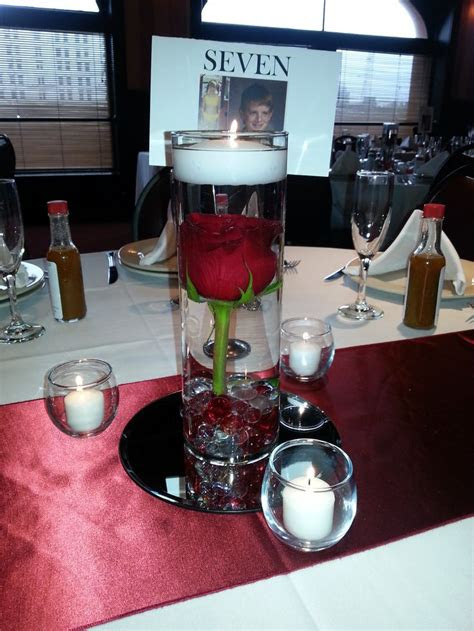 red themed wedding reception elegant red rose