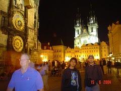 Malam di Old Town Square, Prague, Czech Republic