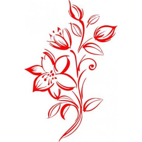 Aufkleber für Auto - Autoaufkleber Blumenranke für die ...