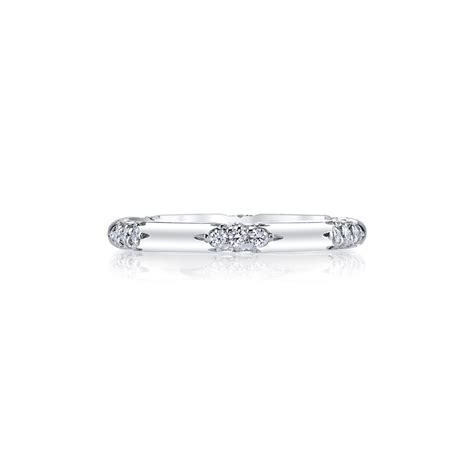 "Michael B. ""Petite Crown Lace"" Pavé Diamond Wedding Band"