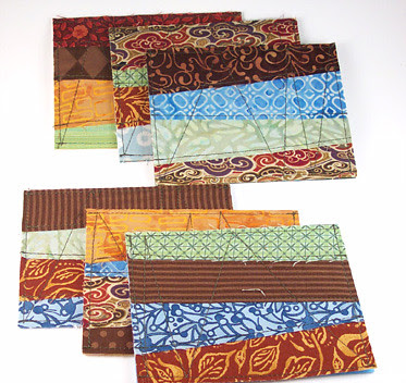 Fabric cards - wild colors
