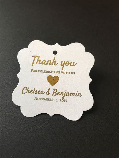 25  best ideas about Wedding Favor Tags on Pinterest
