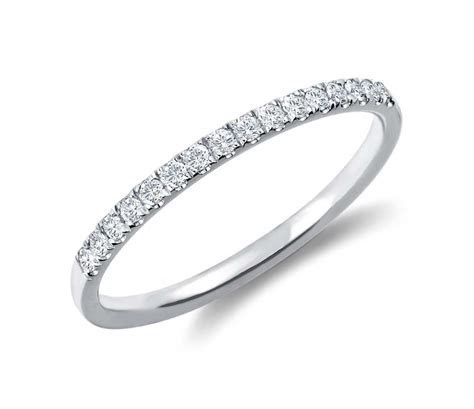 Petite Cathedral Pavé Diamond Ring in 14k White Gold (1/6