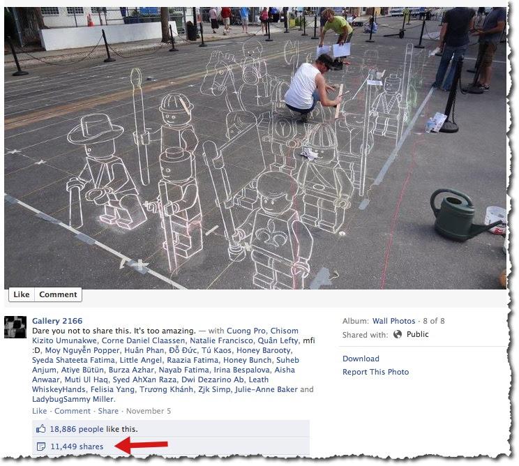 Sidewalk art - Facebook post