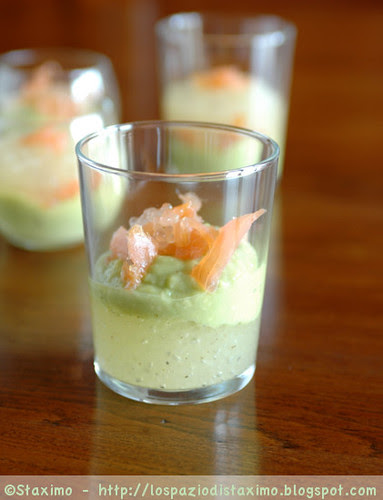 Avocado and White Caviar Glasses