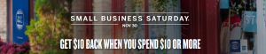 We are a Small Business Saturday Shop!