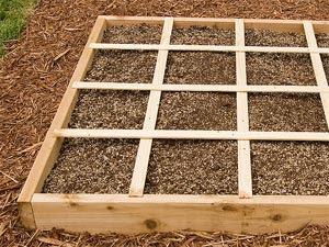 Cases de potager en carrés