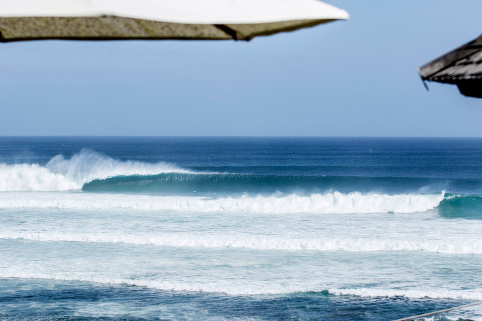 Looking at the shots of Padang, you could draw the conclusion that the swell didn't arrive with the intensity that had been hoped. A quick look at Ulu's and those fears are put to rest.