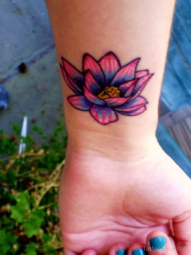 Lotus Flower Tattoo On Wrist Tattoo Designs Tattoo Pictures