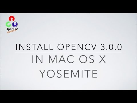 HOW TO INSTALL OPENCV 3 0 0 IN MAC OS X YOSEMITE | Martin
