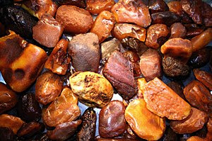 Amber - many stones