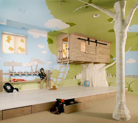 Cool Interior Tree Home: Best Kids Bedroom Design Ever?