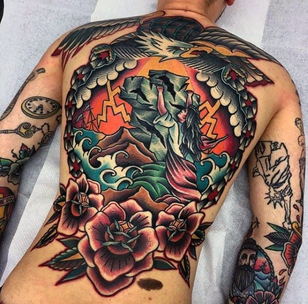 50 Awesome Back Tattoos For Men Masculine Design Ideas