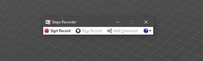 Steps Recorder en Windows 10 (también conocido como Problem Steps Recorder en Windows 7)