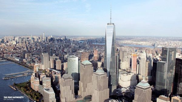 The 1 WTC towers above New York City's skyline...on November 3, 2014.