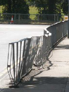 mangled railings