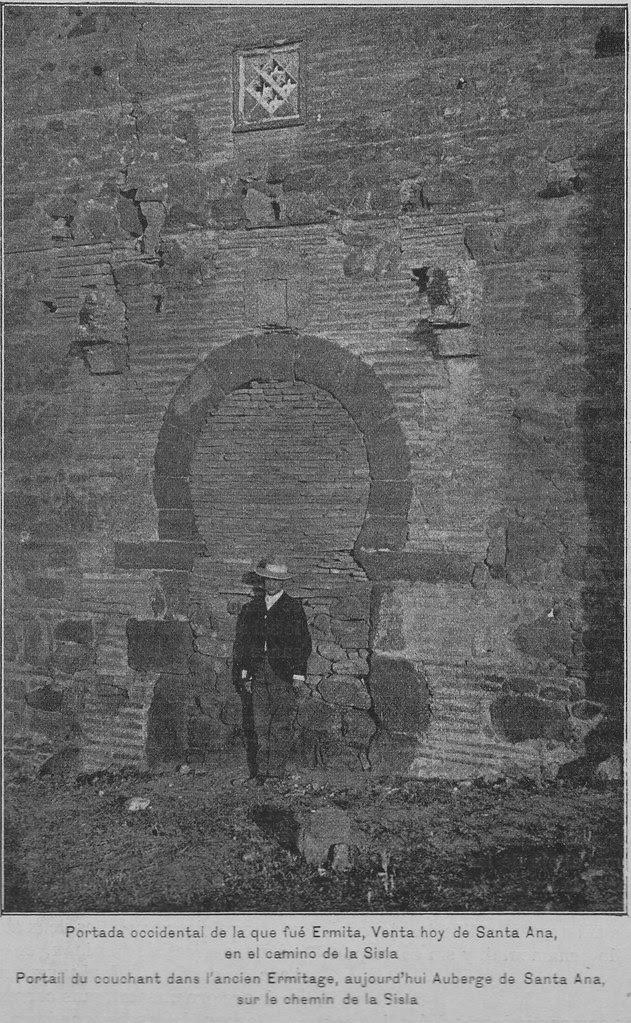 Muro oeste de la Ermita o Venta de Santa Ana en Toledo hacia 1900