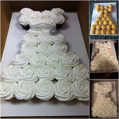 25  Best Ideas about Wedding Dress Cupcakes on Pinterest