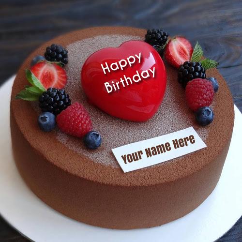 Super Happy Birthday Chocolate Cake With Name Edit Online Happy Birthday Personalised Birthday Cards Arneslily Jamesorg